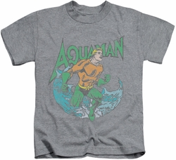 Aquaman kids t-shirt Marco athletic heather