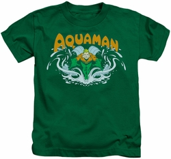 Aquaman kids t-shirt Splash kelly green