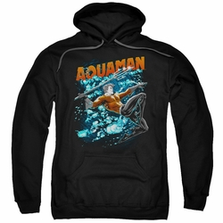 Aquaman pull-over hoodie Aqua Bubbles adult black