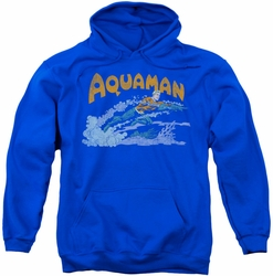 Aquaman pull-over hoodie Aqua Swim adult royal blue