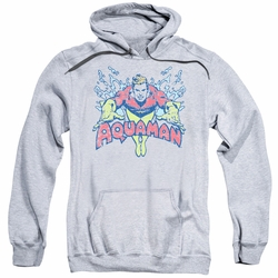 Aquaman pull-over hoodie Splish Splash adult athletic heather