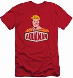 Aquaman slim-fit t-shirt  Sign mens red