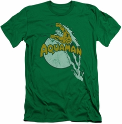 Aquaman slim-fit t-shirt Splash mens kelly green