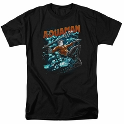 Aquaman t-shirt Aqua Bubbles mens black