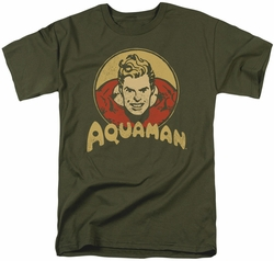 Aquaman t-shirt Aqua Circle mens military green