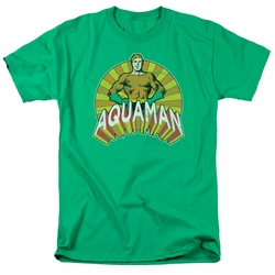 Aquaman t-shirt Arms Akimbo mens kelly green