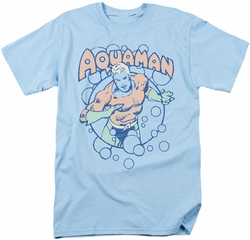 Aquaman t-shirt Bubbles mens light blue