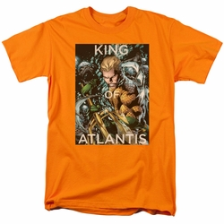 Aquaman t-shirt King Of Atlantis mens orange
