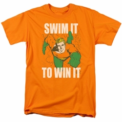 Aquaman t-shirt Swim It mens orange