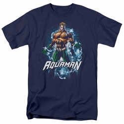 Aquaman t-shirt Water Powers mens navy