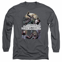 Archer & Armstrong adult long-sleeved shirt Dropping In charcoal