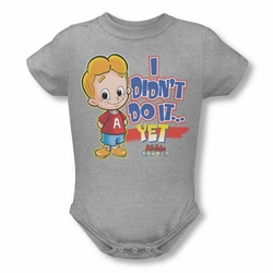 Archie Babies snapsuit Not Yet heather