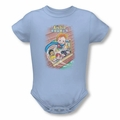 Archie Babies snapsuit Rainy Day Hero light blue
