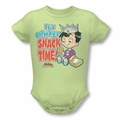 Archie Babies snapsuit Snack Time soft green
