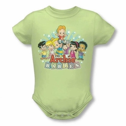 Archie Babies snapsuit The Gang soft green