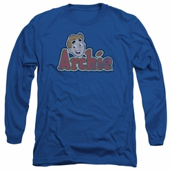 Archie Comics adult long-sleeved shirt Distressed Archie Logo royal