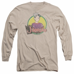 Archie Comics adult long-sleeved shirt Jughead Distressed sand