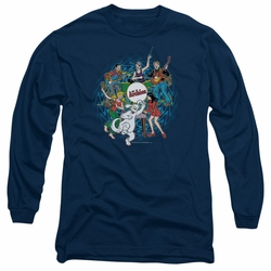 Archie Comics adult long-sleeved shirt Psychadelic Archies navy
