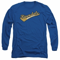Archie Comics adult long-sleeved shirt Riverdale High School royal