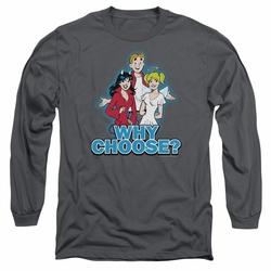 Archie Comics adult long-sleeved shirt Why Choose charcoal
