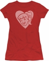 Archie Comics juniors sheer t-shirt Betty Hearts red