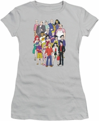 Archie Comics juniors sheer t-shirt Cast silver