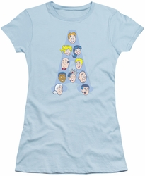 Archie Comics juniors sheer t-shirt Character Heads light blue