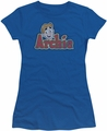 Archie Comics juniors sheer t-shirt Distressed Archie Logo royal