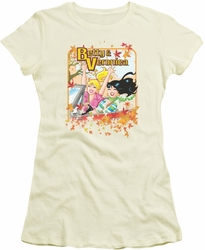 Archie Comics juniors sheer t-shirt Fall Colors cream