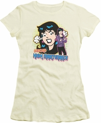 Archie Comics juniors sheer t-shirt High Maintenance cream