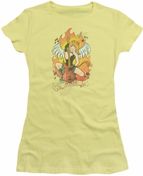 Archie Comics juniors sheer t-shirt Josie Tattoo banana