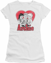 Archie Comics juniors sheer t-shirt Milkshake white