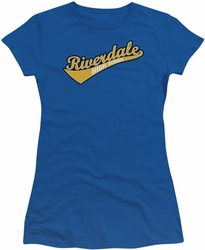 Archie Comics juniors sheer t-shirt Riverdale High School royal