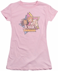 Archie Comics juniors sheer t-shirt Stars pink