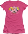 Archie Comics juniors sheer t-shirt Two Is Better hot pink