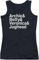 Archie Comics juniors tank top Ampersand List black