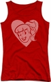 Archie Comics juniors tank top Betty Hearts red