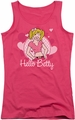 Archie Comics juniors tank top Hello Betty hot pink