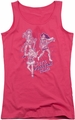 Archie Comics juniors tank top Its Pussycat Time hot pink