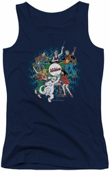 Archie Comics juniors tank top Psychadelic Archies navy