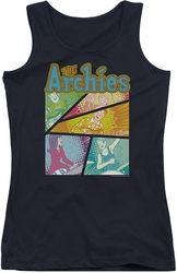 Archie Comics juniors tank top The Archies Colored black