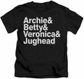 Archie Comics kids t-shirt Ampersand List black