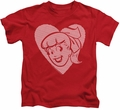 Archie Comics kids t-shirt Betty Hearts red