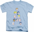 Archie Comics kids t-shirt Character Heads light blue