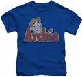 Archie Comics kids t-shirt Distressed Archie Logo royal
