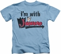 Archie Comics kids t-shirt I'm With Jughead carolina blue