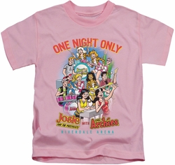 Archie Comics kids t-shirt One Night Only pink