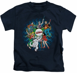 Archie Comics kids t-shirt Psychadelic Archies navy