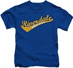 Archie Comics kids t-shirt Riverdale High School royal