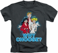 Archie Comics kids t-shirt Why Choose charcoal